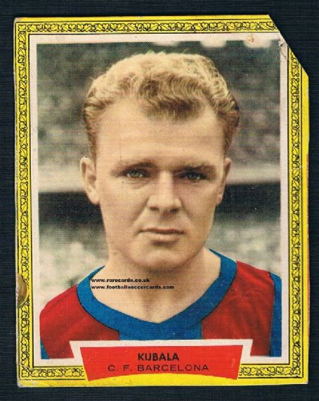 1950s Spanish gold card Kubala